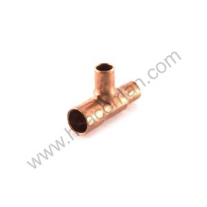 """Copper Branch Reducing Tee 3/8"""" x 1/4"""" x 1/4"""" in Oman"""