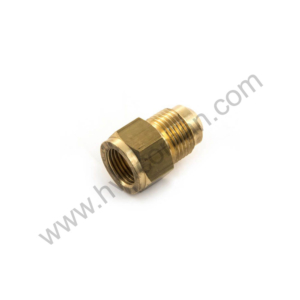 "Female Reducing Union Brass 1/4"" M x 3/8"" F Flare"