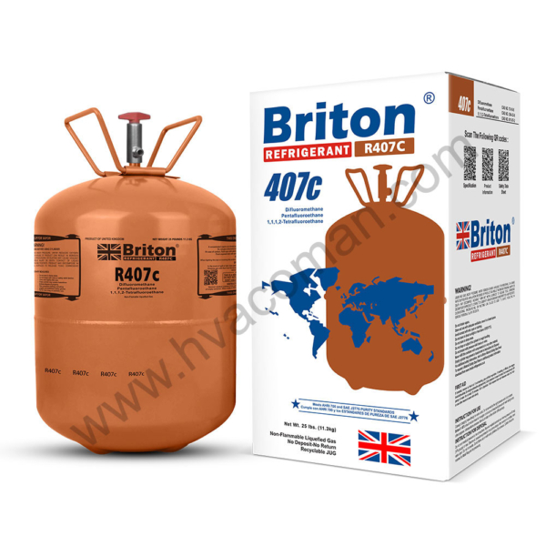 R407c Refrigerant Gas Briton in Oman