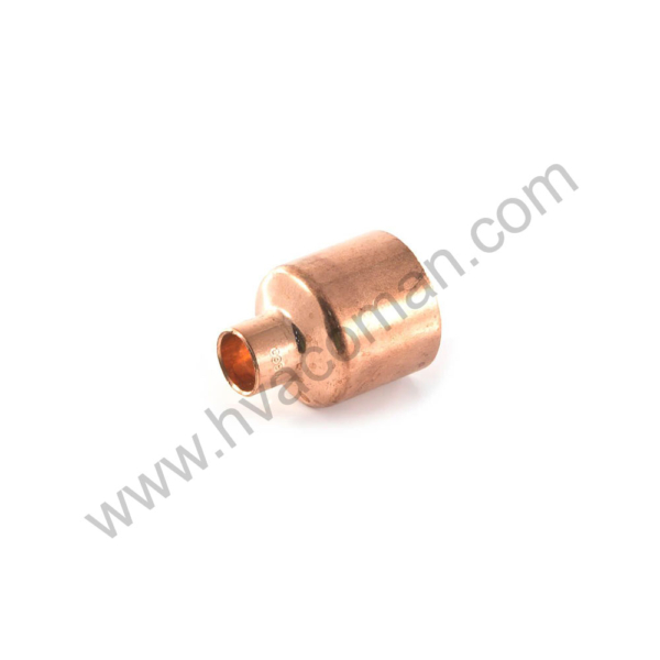 "Copper Reducing Coupling - 1.1/8"" x 1/2"""