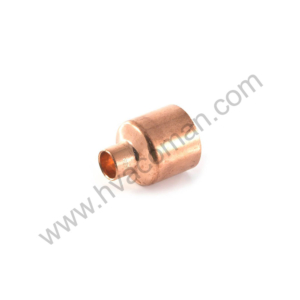 "Copper Reducing Coupling - 1.1/8"" x 3/4"""